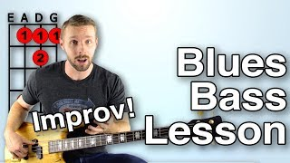 5 Ways To Get Through A Blues Solo On Bass [Blues Bass Lesson - Improv]