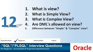What is the view in oracle? simple view? complex view?