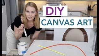 DIY Canvas Art Budget Room Decor   Design Time