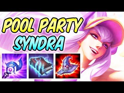 CLEAN POOL PARTY SYNDRA MID Full Burst AP Magic Penetration | Build & Runes | League of Legends