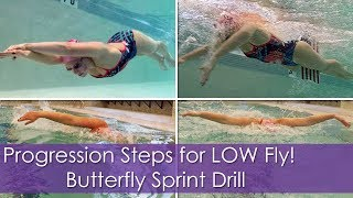 Progression Steps for LOW Fly! Butterfly Sprint Drill!