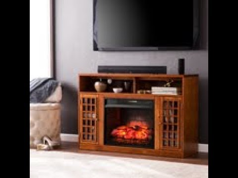 FI9302: Narita Infrared Electric Fireplace Media Stand - Glazed Pine Assembly Video