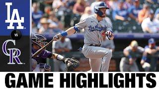 Dodgers vs. Rockies Game Highlights (9/23/21) | MLB Highlights