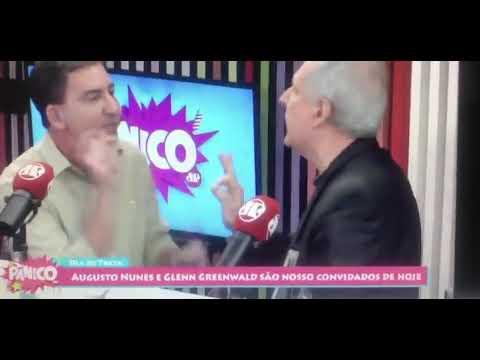Jornalista Augusto Nunes acaba de agredir Glenn Greenwald ao vivo no Pânico