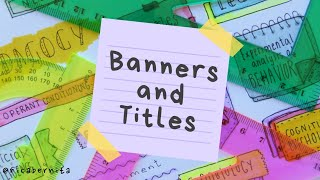 EASY BANNER IDEAS for HEADINGS AND SCHOOL NOTES 💜 EASY WAYS TO WRITE TITLES