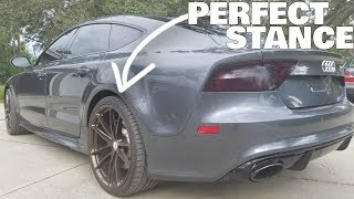 Wrecked Audi RS7 Gets New Suspension and TEST DRIVE!