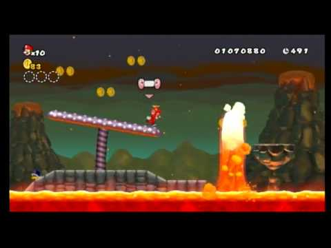 New Super Mario Bros Wii Walkthrough World 5 Ghost House Secret