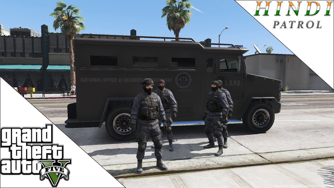 GTA 5 SWAT PATROL HINDI #52 - YouTube