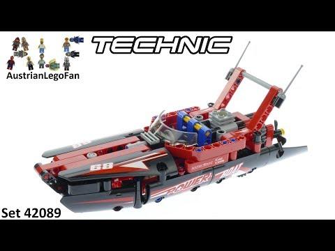 Vidéo LEGO Technic 42089 : Le bateau de course