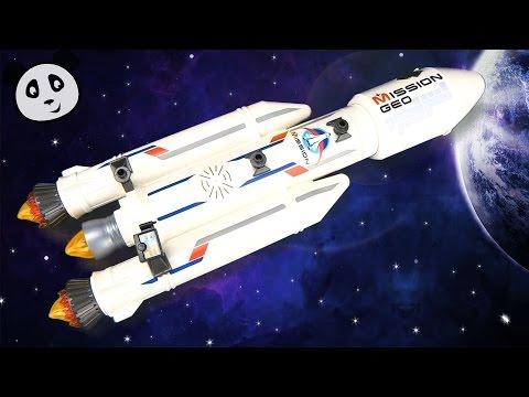 Playmobil 🚀 Cohete con base estación - Armado y demostración del juguete - Pandido TV
