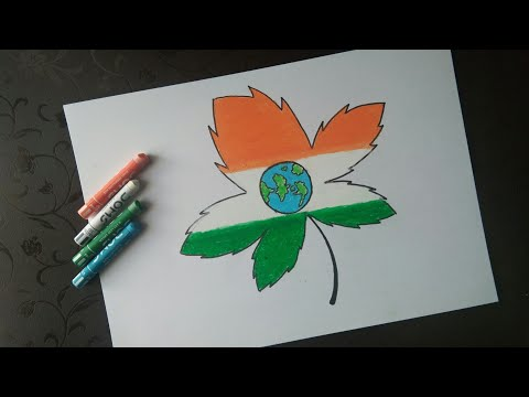 How To Draw Republic Day Scenery Drawing With Oil Pastels Step By