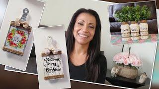 Dollar Tree Spring/Summer! DIY Home Deco Crafts