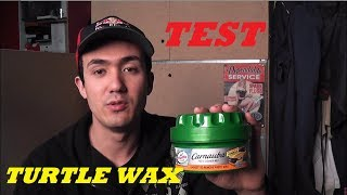 Test Turtle Wax Carnauba paste cleaner wax