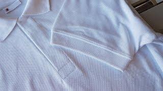 How to sew a Polo shirt lacosta part 1 step by step tutorial. Koszulka polo