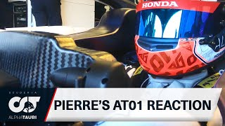 Pierre Gasly's First Reaction To The Scuderia AlphaTauri AT01