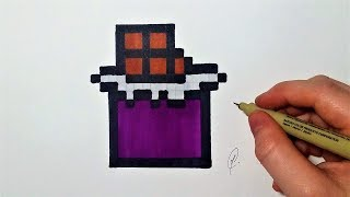Dessin tablette de chocolat - Pixel Art (facile)