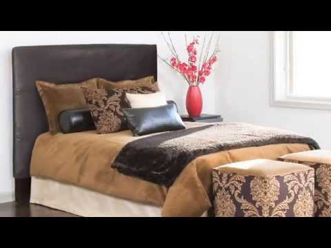Video for Bella Chocolate King Headboard Slipcover