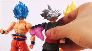 GOKU Ultra Instinto VS JIREN Stop Motion | Review Goku Ultra Instinct SH figuarts Action video