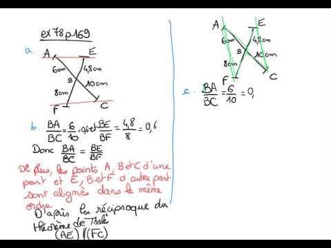 Correction exercice 78 p 169 réciproque du théorème de ...