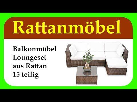 Balkonmoebel Lounge Balkon Polyrattan Lounge Ecke | Loungemöbel für Outdoor, Balkon und Terrasse