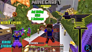 MINECRAFT | Strider Ride Fun With RON In Nether