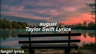 august || Taylor Swift Lyrics