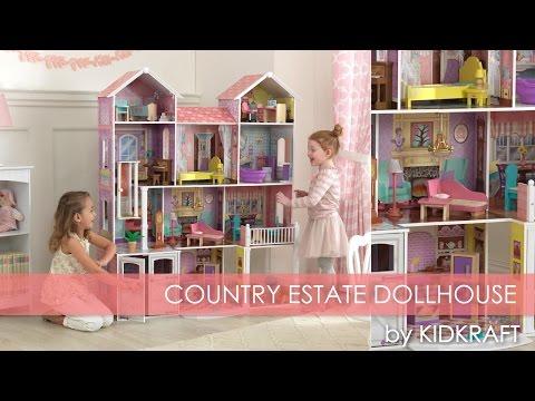 Casa De Muecas Kidkraft Mansion Con Muebles Country