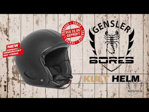 Bores Gensler Kult Helm - ECE-22.05 geprüft - Patentiertes - TWIN-SHELL-SYSTEM