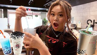Day In The Life Of A Bubble Tea Barista ♡ (Cafe Vlog)