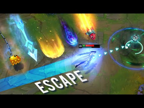"""Perfect """"Close Call"""" Escapes - CALCULATED TIMING - League of Legends"""