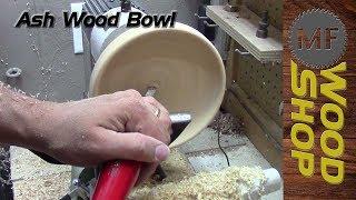Ash Wood Bowl Turning