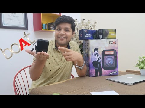 Boat 170 Bluetooth Speaker Unboxing & Review With Water Test In Hindi - Giveaway
