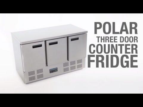 Video Polar RVS koelwerkbank - G622 - 3 deuren
