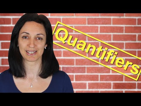 Quantifiers | Much or Many? - Few or Little? | English Lesson