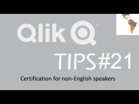 Qlik Tips #21 - Certification for non English Speakers - ESPAÑOL