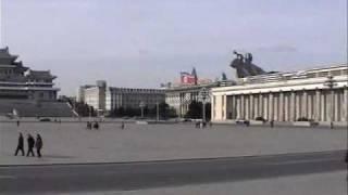 [北朝鮮旅行記用動画]北朝鮮金日成広場広場方面