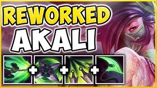 WORLDS FIRST AKALI REWORK GAMEPLAY! ALL SPELLS, NEW SKINS, EMOTES REVEALED! - League of Legends