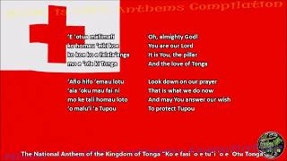 Tonga National Anthem with music, vocal and lyrics Tongan w/English Translation