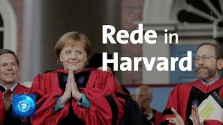 Merkel spricht vor Harvard-Studierenden