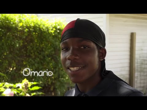 15-year-old Omario – a BMX biker, outdoor enthusiast and dog lover