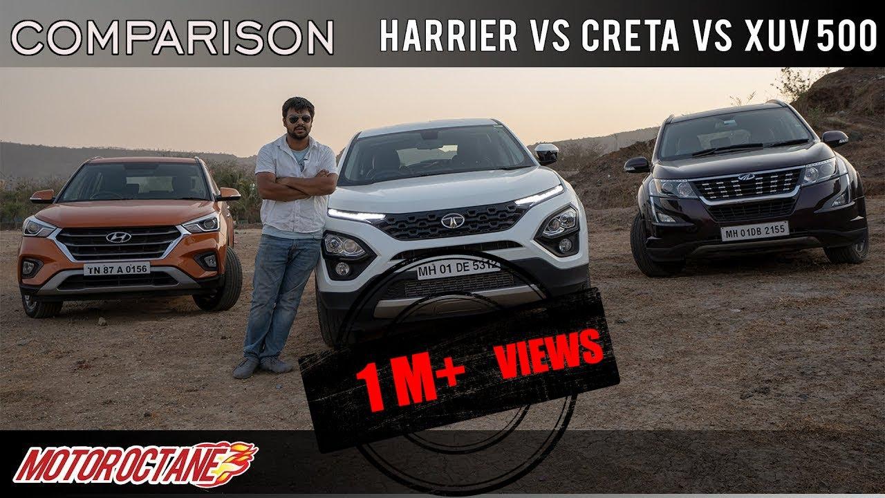 Motoroctane Youtube Video - 2019 Tata Harrier vs Hyundai Creta vs Mahindra XUV500 Comparison | Hindi | MotorOctane
