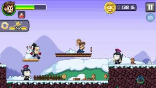 Dan the Man - Frosty Plains - Stage 1-1  Android/ios Gameplay