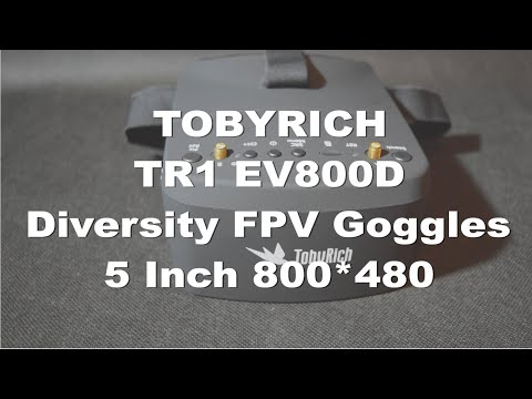 TOBYRICH TR1 Diversity FPV Goggles - Recensione e test