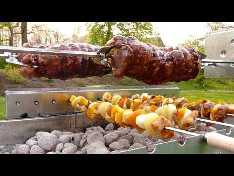 Gastronomie Spieß- und Holzkohlegrill im Einsatz www.spiess-grill.de