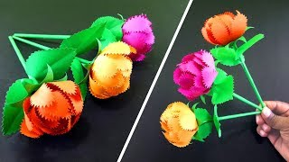 How To Make A Simple Gift Flower | Easy Handmade Gift Ideas : DIY Paper Crafts