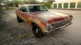 Sleeper 1972 Chevrolet Nova SS Super Sport Hot Rat Patina Rod LSx Swap FOR SALE