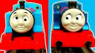 Thomas Red Vs Blue Vs Classic Thomas The Tank Engine Train Race & Crashes