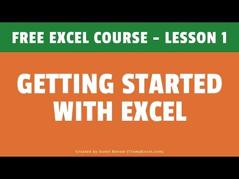Getting Started with Excel | Excel For Beginners | FREE Excel Course