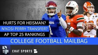 College Football Mailbag: Jalen Hurts, Oklahoma Football, N'Kosi Perry Transfer & AP Top 25