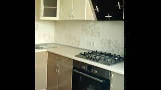 Кухня фото № 53 фасад постформинг цвет Слоновая кость - бежевая. от компании Фаберме - видео 2